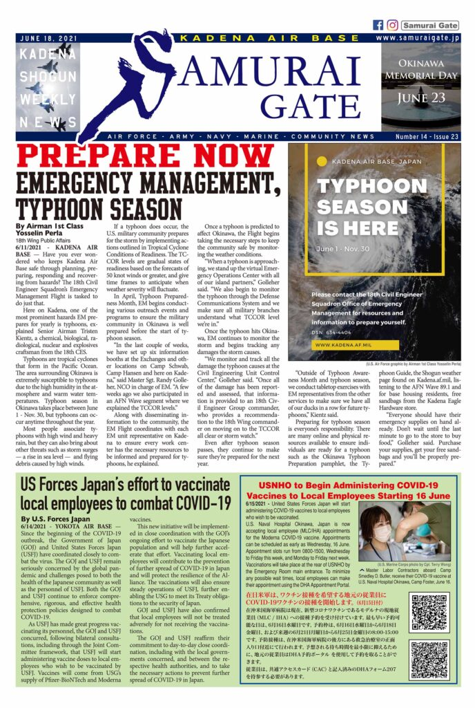 Samurai Gate, June 18, 2021 cover